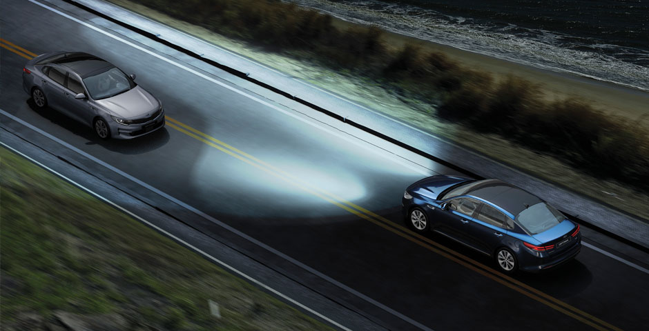 Tecnologia Kia Motors Drive Wise: High Beam Assist