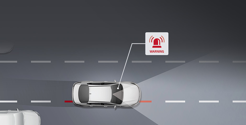 Kia Lane Departure Warning System (LDWS) video