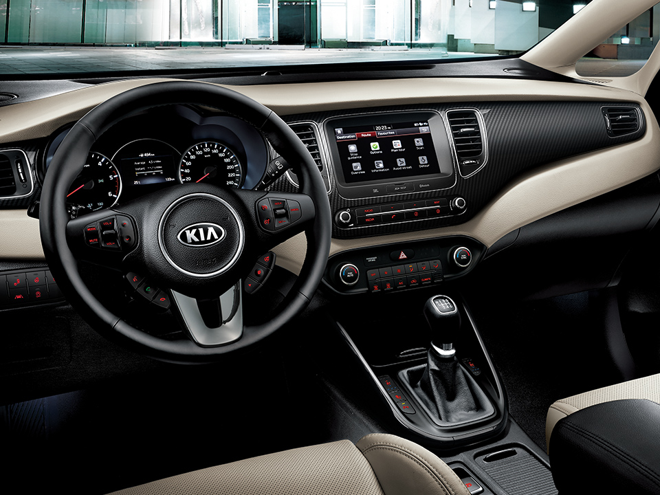 Kia Carens refined interior