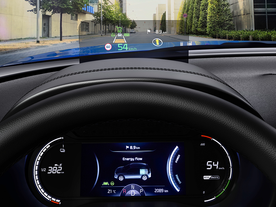 Kia e-Soul - display HUD