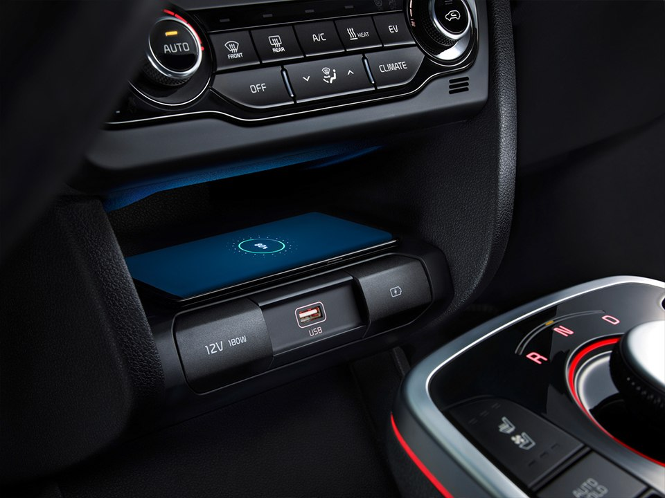Kia e-Niro wireless phone charger