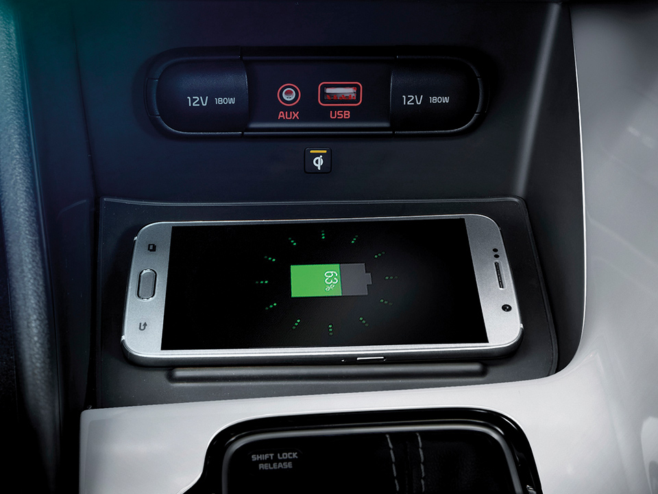 Kia Niro Plug-in Hybrid wireless phone charger