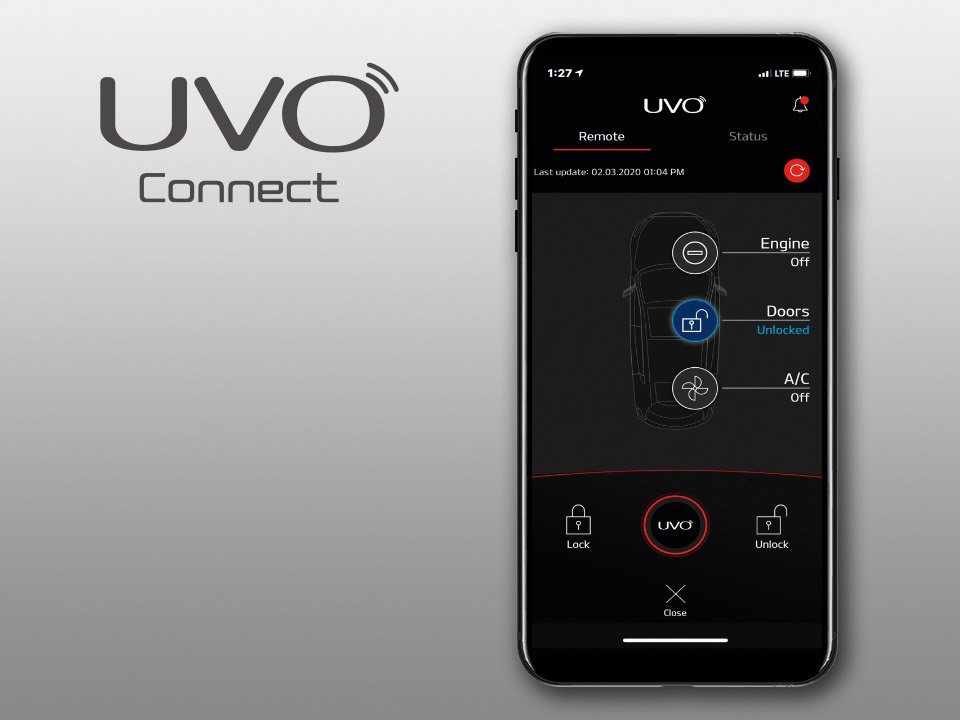 Nuova Kia Niro - UVO connect
