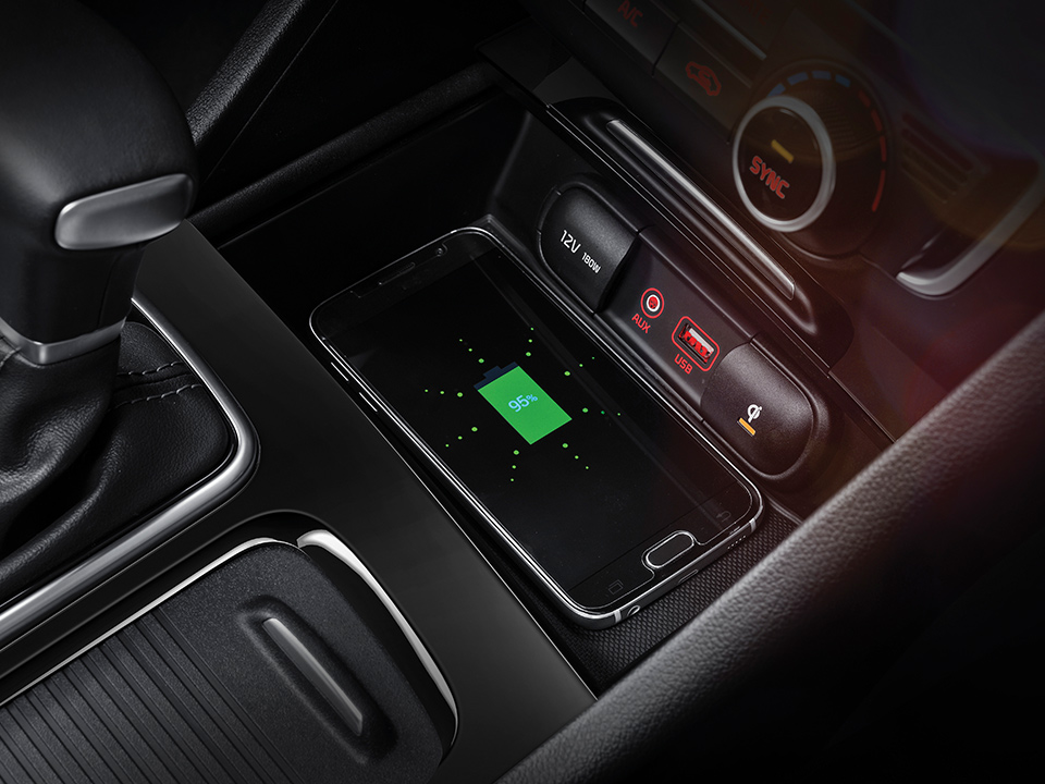 Kia Optima Sportswagon Plug-in Hybrid - Wireless Phone Charging
