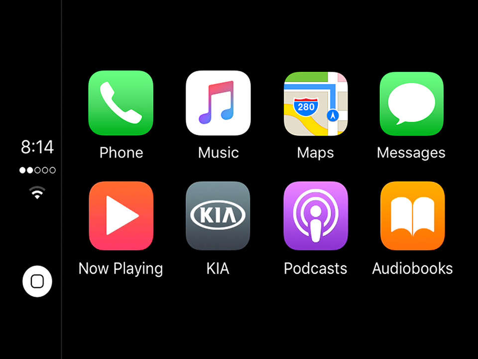 Kia Picanto -  navigatore touchscreen da 7'' compatibile con Apple CarPlay ™