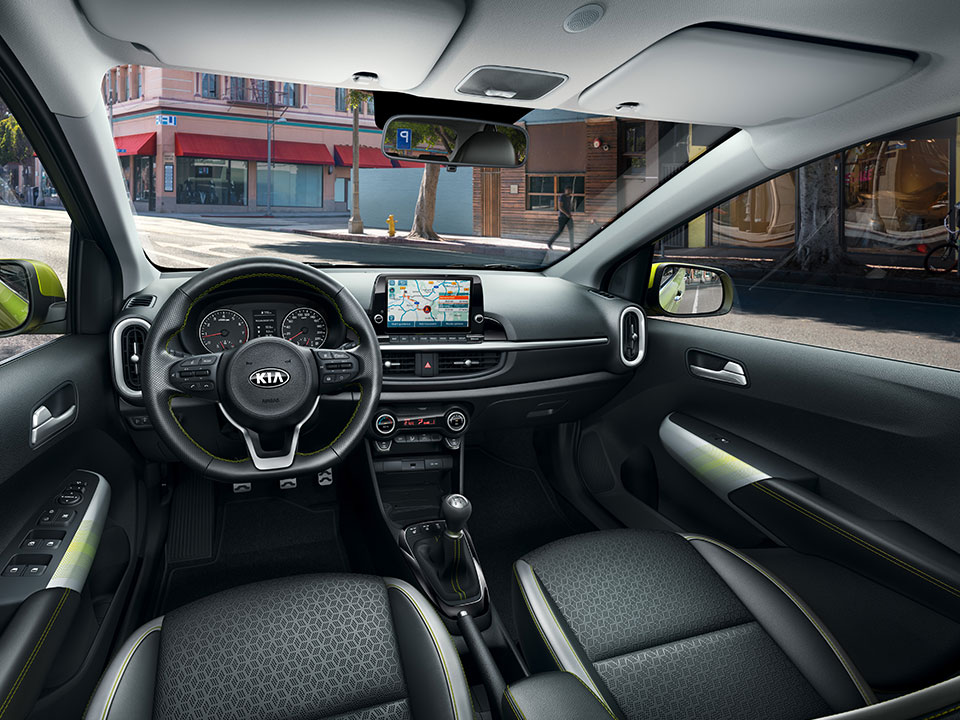 The new Kia Picanto X-Line interior