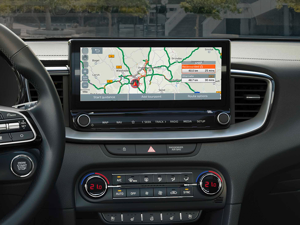 "Kia Navigation System con schermo touchscreen da 10.25"" e UVO Connect"