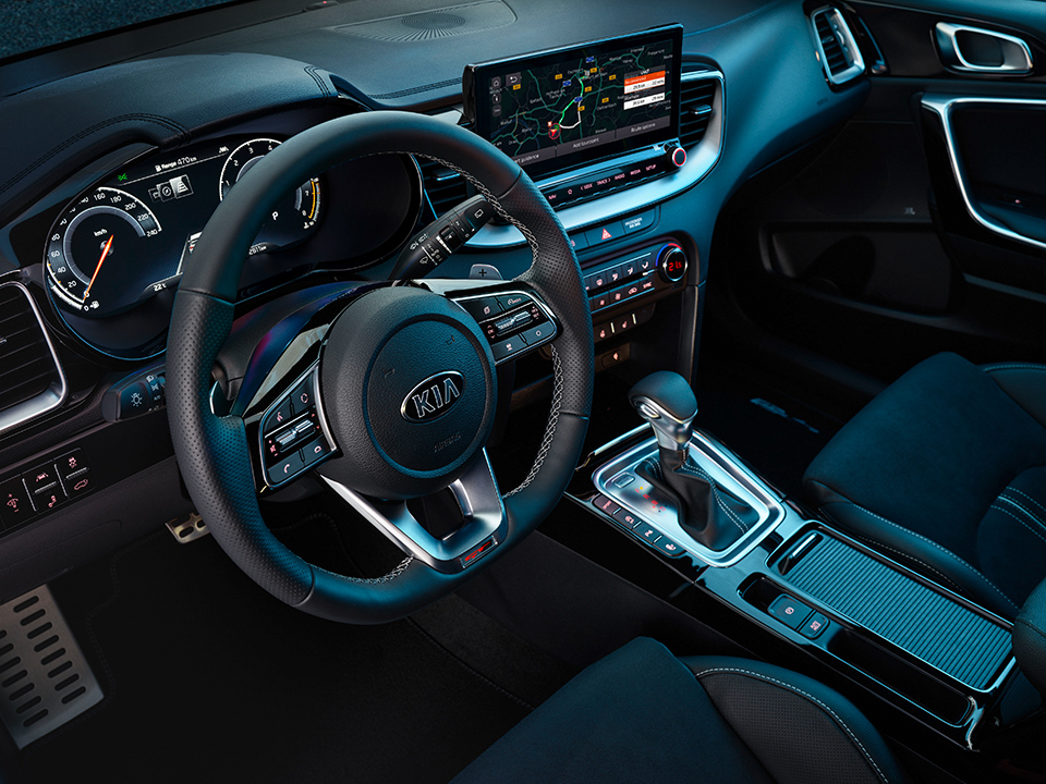 Kia ProCeed paddle shift levers