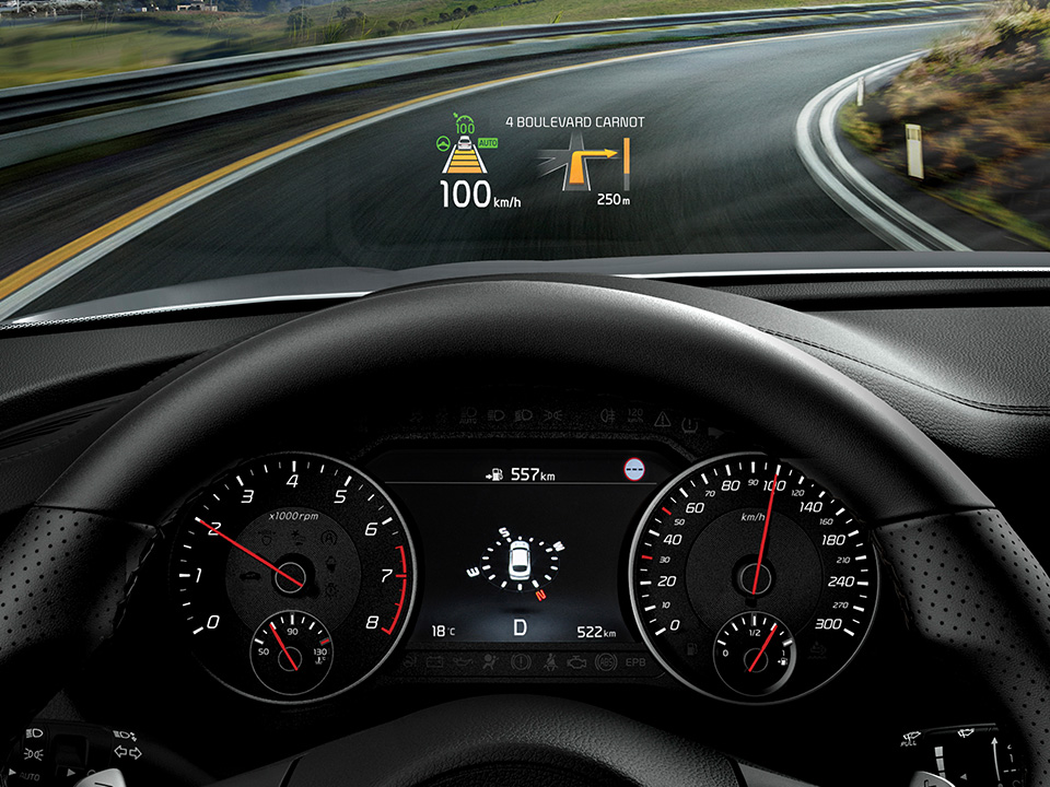Kia Stinger - display HUD