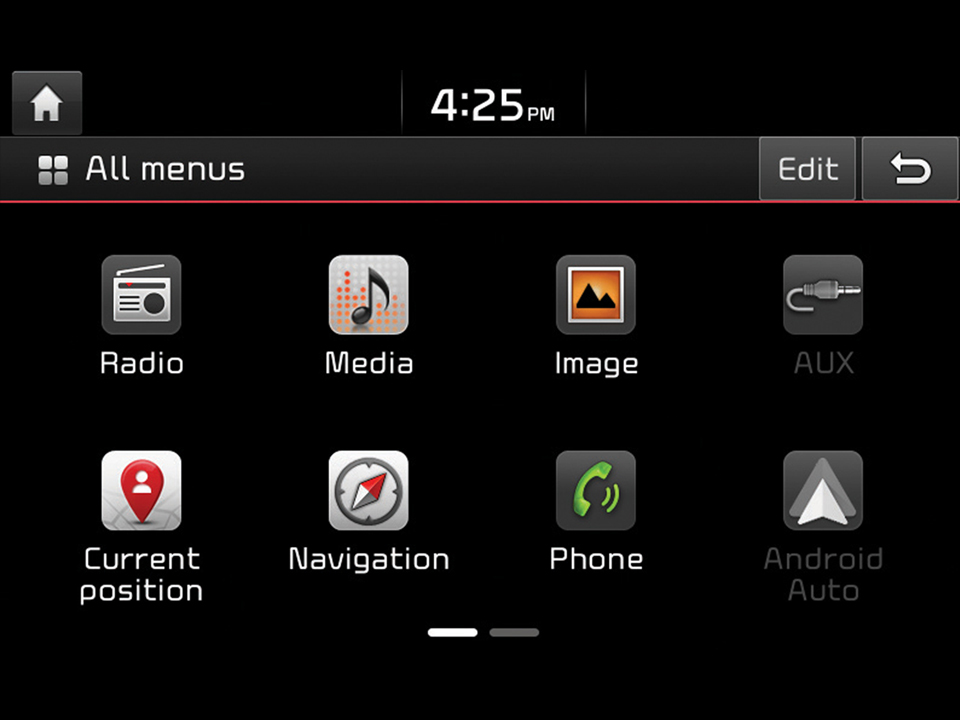 Android Auto™ ed Apple CarPlay™