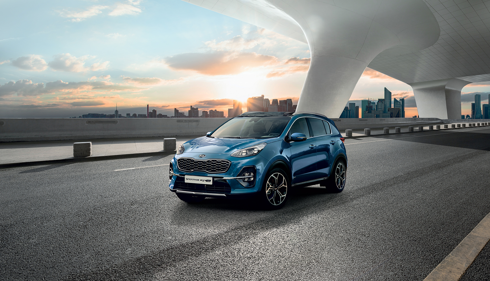 The Kia Sportage outdoor